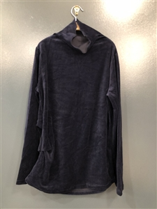 (Best; 2nd Reorder) Navy Velvety Turtleneck Top (will ship within 1~2 weeks)