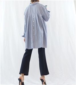 (Best; 3rd Reorder) Unique Back Shirring Shirt