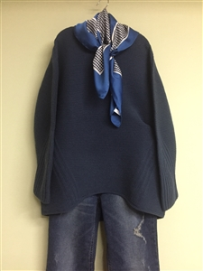 (Best; Back-Order; 2nd Reorder) Navy WholeGarment Knit (will ship within 1~2 weeks)
