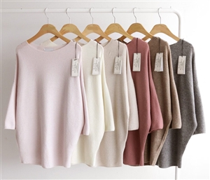 (Pre-Order) Whole Garment Luxury Knit (LightPink/Ivory/Oatmeal/Pink/Beige/Gray) (will ship within 1~2 weeks)