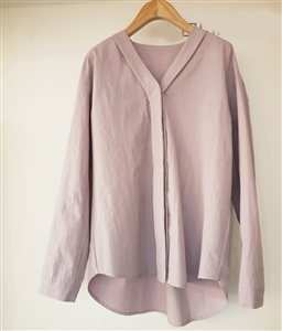 (Pre-Order) Double Line Blouse (Ivory/Purple/SkyBlue) (will ship within 1~2 weeks)