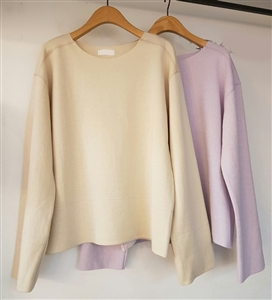 (Pre-Order) Pastel Clean Cut Top (Beige/Pink/SkyBlue/Charcoal) (will ship within 1~2 weeks)