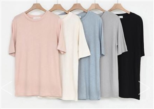 (Pre-Order) Clean Tencel Top (Pink/Ivory/SkyBlue/Gray/Black) (will ship within 1~2 weeks)