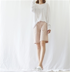 (Best; 3rd Reorder) Ivory Clean Linen Top