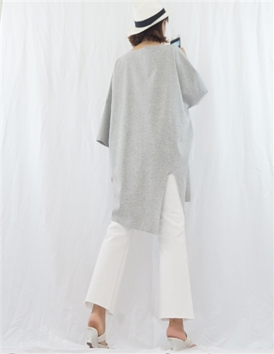 (Best; 2nd Reorder) Gray Luxury Unbalanced Vent Top