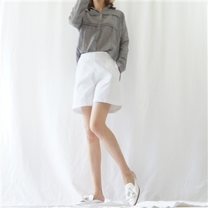(Best; 2nd Reorder) Gray Lace Line Shirt