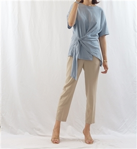 (Best; 2nd Reorder) SkyBlue Stylish Unique Front Top
