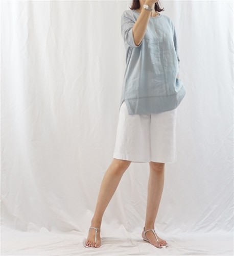 (Best; 2nd Reorder) SkyBlue Line Top