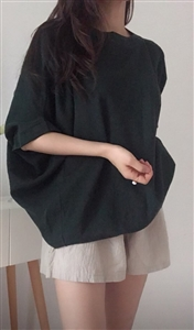 (Pre-Order) Deep Green Summer Volume Knit  (will ship within 1~2 weeks)