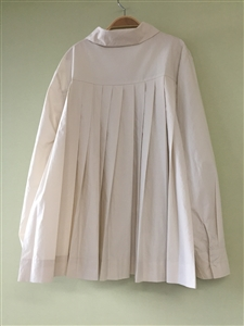 (Pre-Order) Beige Back Pleated Blouse (will ship within 1~2 weeks)