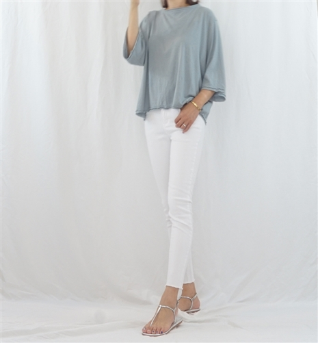 (Best; 2nd Reorder) SkyBlue Two Layered Cotton Top