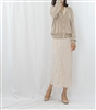 (Must-Have! Best; Back-Order; 2nd Reorder) Beige Clean Side Button Round Knit and Cardigan Set (will ship within 1~2 weeks)