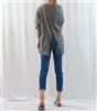 (Best; 3rd Reorder) Gray Back Tied Blouse