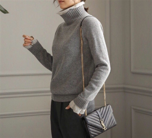 (~10/10) Double Line Cashmere Knit (Beige/Gray/Black) (will ship within 1~2 weeks)