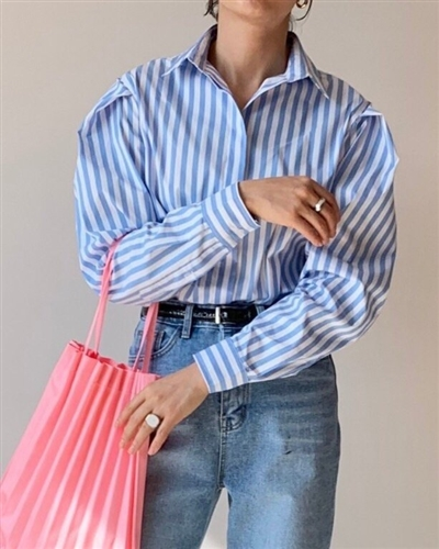 Priola Stripe Shirt (will ship within 1~2 weeks)