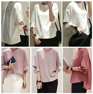 Unique Blouse (Ivory/LightPink/Black) (will ship within 1~2 weeks)