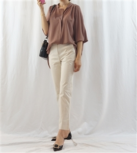 (Best) Brown Chloe Blouse (will ship within 1~2 weeks)
