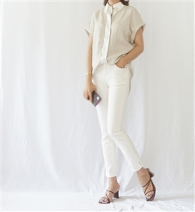 Cuccinel Blouse (Ivory/Beige) (55/66/77) (will ship within 1~2 weeks)