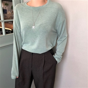 Basic Must Have Top (Black/Ivory/Mint/Brown) (will ship within 1~2 weeks)