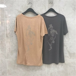 Z Skull Top (Beige/Gray) (will ship within 1~2 weeks)