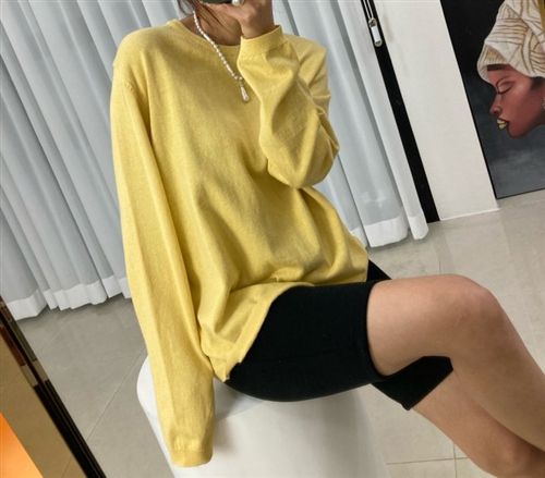 Spring Knit (Pink/Yellow) (will ship within 1~2 weeks)