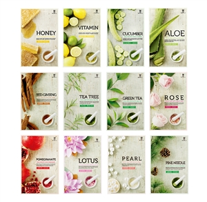 24MIRACLE 12 KINDS FACIAL MASK WITH WHOLE (12PCS)