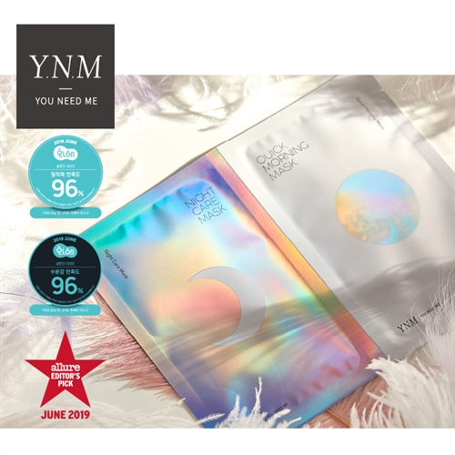 (EVENT) YNM NIGHT AND MORNING TWO WAY MASK 1Box (3 set) ​(FREE MASK 1BOX WHEN YOU BUY YNM & BLANBLVN $100 OR MORE)