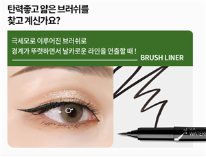 (1+1) New Application Added [PASSIONCAT] 2X WaterProof Brush Liner - Black