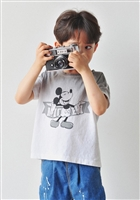 Washing Cotton Mickey T (Beige/Gray) (9호; 4T)