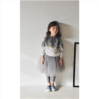 Gray Tutu Skirt Leggings