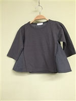 (Pre-Order) Back Shirring Top (S/M/L) (Charcoal/LightBeige) (will ship within 1~2 weeks)