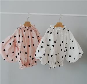 Bubble Blouse (Ivory/Pink) (Size : 9 - 5~6T)