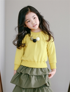 CanCan Dress- Mustard (Size; 9 (Age5~6) )