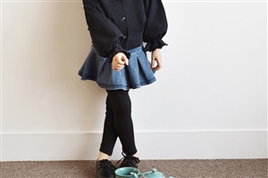 Denim Skirt Leggings (Size; 9/11)
