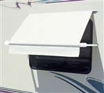 Carefree WH0604F4FW Simply Shade RV Window Awning - 6' - White