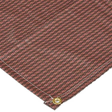 Carefree 180875 Dura-Mat RV Patio Rug - Bordeaux - 8' x 8'