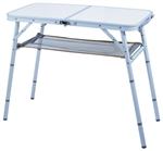 Aluminum Folding Table With Mesh Shelf