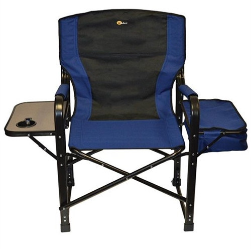 Faulkner 49581 El Capitan Folding Director's Chair With Cooler - Blue/Black