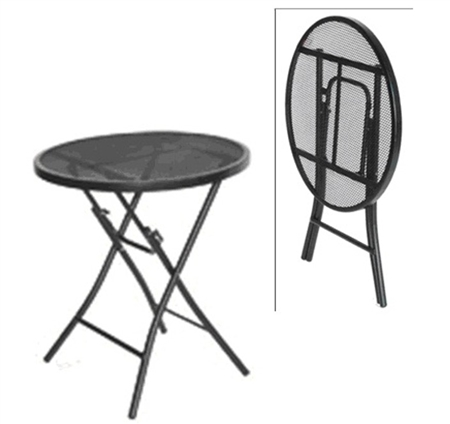 Prime Products Black Steel Bistro Table