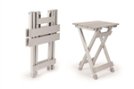 Camco RV Fold-Away Small Side Table  - Silver