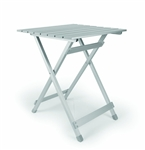 Camco Large Aluminum Folding Side Table - Silver