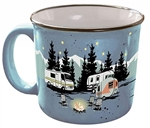Camp Casual CC-004B Starry Night Camping Travel Mug