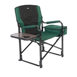 Faulkner 52287 El Capitan Folding Director's Chair With Cooler - Green/Black