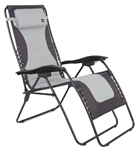 Faulkner 52294 Laguna Style Gray/Black Outdoor Recliner