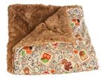 "Camp Casual CC-005CCT The Throw Picnic Blanket 50"" x 60"" - Cozy Critters"
