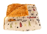 "Camp Casual CC-005RT The Throw Picnic Blanket 50"" x 60"" - Road Trip"