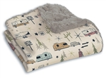"Camp Casual CC-005RTG The Throw Picnic Blanket 50"" x 60"" - Road Trip Gray"