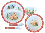 Camp Casual CC-002 Child Melamine Camping Dish Set - 5/PC