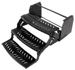 "Lippert 341503 Hickory Triple Radius RV Steps - 10"" Drop"