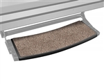 "Prest-O-Fit 2-0371 Outrigger Radius RV Step Rugs Walnut Brown - 22"" Wide"